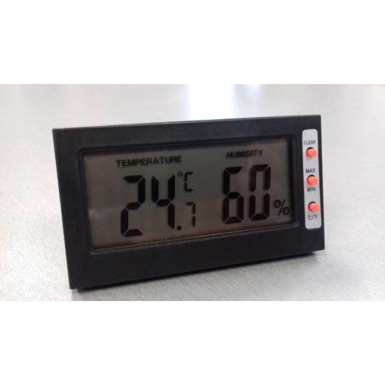 Hőmérő és páratartalom mérő BDA006 fekete